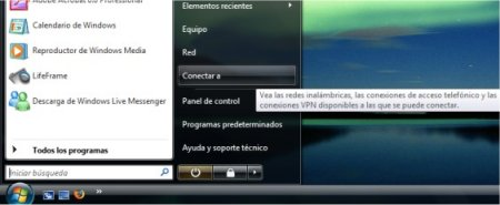"Windows Vista ""Conectar a"""