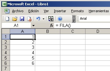 Celda autonumerica en Excel