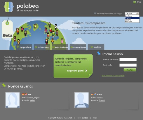 palabea.net - Practicar y aprender ingles gratis en Internet