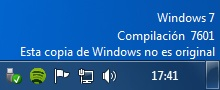 Windows 7 esta copia no es original
